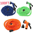 100FT Hose Expandable Flexible Yard Garden Water Pipe With Spray Nozzle Head New