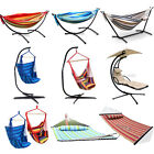 Multi Double Hammock/Hanging Hammock Swing Chair/ With Seat/Pillow/Canopy/Stand