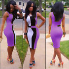 New Celeb Ladies Bodycon Pencil Cocktail Evening Party Dress Size 8-18 HOT