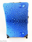 BLUE WATER DROPLETS DESIGN SUITCASE COVER EASILY IDENTIFY YOUR CASE