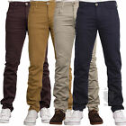 MENS CHINO JEANS SKINNY SLIM FIT STRETCH IN NAVY BURGUNDY STONE & TAN COLOURS