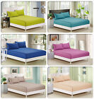 800TC Egyptian Cotton Bed Fitted/Fitted&Flat Sheet + 2 Pillowcases Set AU Size
