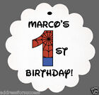 24 Personalized Superhero Theme Birthday Favor Scalloped Tags Party Favors