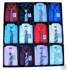 Boys Shirt And Tie Set Formal/Smart Shirt Long Sleeved Smart Device Ages 1Y-15Y
