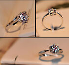 Luxury Jewelry 925 Classic Sterling Silver AAA zircon Lady Wedding Ring Size 5-8