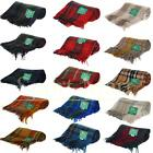 Classic 100% Wool Scottish Tartan Tweed Blankets Check Throws Travel Rugs