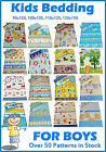 Boys Bedding Cot/Cot Bed/Toddler/Junior Bed - Duvet Cover+Pillowcase/Curtains