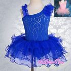 Girl Ballet Tutu Rhinestong Dance Fancy Costume Pageant Dress Size 2T-7 028