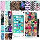 For Apple iPod Touch 5 6 Cute Design TPU SILICONE Rubber Case Cover + Pen