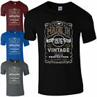 Made in 1976 T-Shirt Born 40th Year Birthday Age Present Vintage Funny Mens Gift
