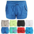 New Womens 100% Cotton Casual Summer Surf Board Shorts Short Hotpants 8-16