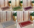 Estelle Machine Washable Non Slip Mats Rubber Back Kitchen Door Small Large Rugs