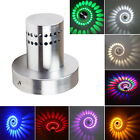 3W Spiral LED Wall Sconce Hall Porch Walkway Light Decor Fixture Aluminum Lamp