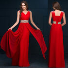 US RED PLUS 14 16  Bridesmaid Formal Gown Ball Party Cocktail Evening Prom Dress