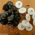 5 X overall buttons 19mm size 30 black or white