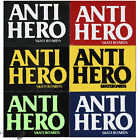 "ANTI HERO ""Block Hero"" Skateboard Sticker 13cm x 9cm Yellow Black Red Navy Lime"