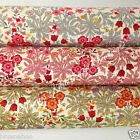 per 1/2 metre/FQ  ATHENA floral dressmaking/craft fabric 100% COTTON 3 colours