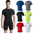 Men/Lady Training Gym Dry-fit T-shirt Athletic Compression Sport Tight