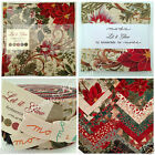 MODA Let it Glow Christmas themed 100 % cotton jelly rolls & charm packs