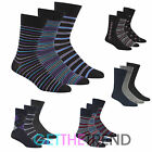 Mens 12 Pairs Design Socks Pierre Roche Cotton Rich Non Elastic Top Socks Multi