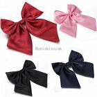 Внешний вид - Womens Girls Fashion Party Banquet Solid Color Adjustable Bow Tie Necktie NEW