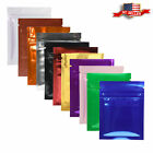 colored zip lock bags - Many Colors for 100 Shiny Glossy Reclosable Metallic Mylar Zip Lock Bags