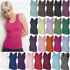 Bella Ladies S-2XL Womens Baby Rib 100% Cotton Tank Top T-Shirt NEW B-1080