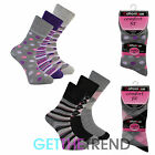 Womens Socks Non Elastic Spot Stripe Argyle Stocking Filler Ladies Blend Cotton