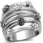 Trendy Weave Cross Over RING thumb Size J L N P R 5 6 9 Stainless Steel LTK1372E