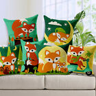"Cartoon Cute Fox 18""x45cm Decor Cotton Linen Cushion cover Pillowcase"