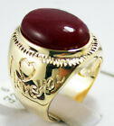 14 color Men's blue&red&yellow&green Jade Turquoise Ring size  8-12 # A485