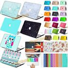 "Laptop Hard Case Shell +Keyboard Cover for MacBook AIR 11"" PRO 13 15""/Retina 12"""