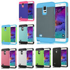 For Samsung Galaxy Note 4 Hard back Shock Proof Dual Tone Rubber TPU Hybrid Case