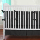 5 Piece Baby Crib Bedding set Solid Fitted Pillowcase Comforter CribSkirt Bumper