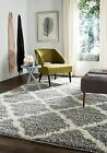 Dark Grey / Ivory Safavieh Dallas Shag Area Rugs - SGD257G