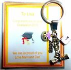 Congratulations Graduation 2016 Keyring Gift on Personalised Gift Card Wise Owl