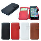 Premium Genuine Leather For Apple iPhone 5s 5 Side Open Wallet Protective Case