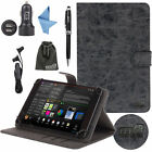 EEEKit for 7/8/10 Inch Tablet,PU Leather Stand Cover Case+Car Charger+Earphone