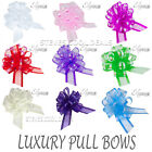 50mm Organza Fabric Pull Bows Wedding Car Pew ends Table Gift Craft Decoration