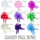 Organza Fabric Pull Bows Wedding Car Pew ends Table Gift Craft Decoration 50mm