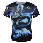 Snake Quick-drying Sports Cycling Jersey 3D T-Shirt Round Top Tops Tee CC3033