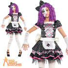 Girls Damaged Doll Costume Broken Fancy Dress Child Halloween Outfit Kids