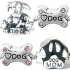 Dog Lover Charms and Beads for Silver Charm Bracelets Paws Hearts Bones etc