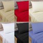 400 THREAD COUNT LUXURY PERCALE 100% EGYPTIAN COTTON FITTED BED SHEETS ALL SIZES