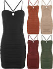 Womens Strappy Sleeveless Bustier Keyhole Sweetheart Mini Short Top Ladies Dress