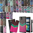 For ZTE Grand X Max Z787 Max+ Z987 Dual Layer HYBRID HARD BACK Case Cover + Pen
