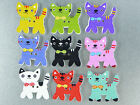 Cat Magnets cute strong neodymium painted wood - 4 gift boxed