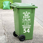 Recycling Wheelie Bin Custom Decals Dustbin Vinyl Stickers New House Number A199