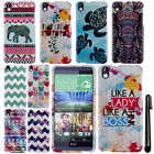 For HTC Desire 816 Aztec Galaxy Chevron PATTERN HARD Case Phone Cover + Pen