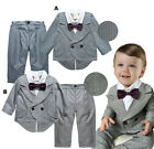 Baby & Toddler Formal Tuxedo Grey Suit, Boy Formal Wedding Party Outfit 6M-4T